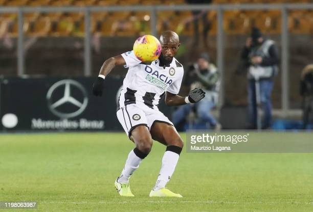 Seko Fofana of Udinese during the Serie A match between US Lecce and Udinese Calcio at Stadio Via del Mare on January 5 2020 in Lecce Italy