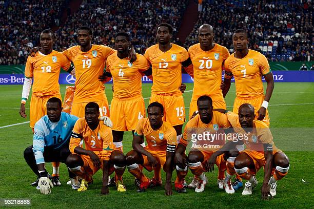 Sekou Cisse Yaya Toure Kolo Toure Souleymane Bamba Guy Demel Salomon Kalou Aristide Zogbo Emmanuel Eboue Arthur Boka Cheik Tiote and Didier Zokora...