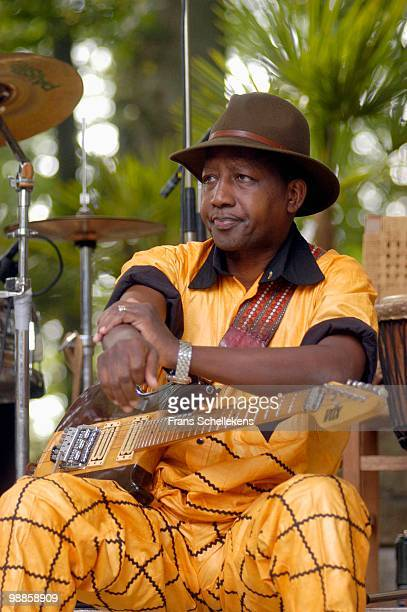 Sekou Diabate from Bembeya Jazz performs live on stage at the Africa Festival in Hertme, Netherlands on June 02 2005