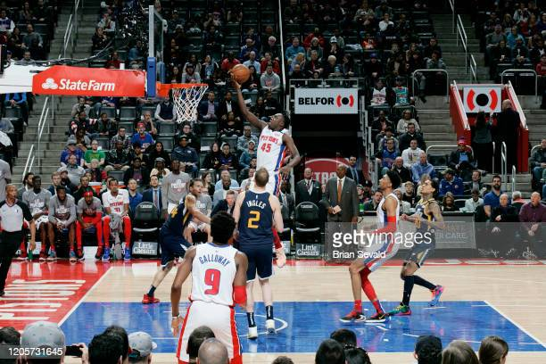 Sekou Doumbouya of the Detroit Pistons shoots the ball against the Utah Jazz on March 7 2020 at Little Caesars Arena in Detroit Michigan NOTE TO USER...