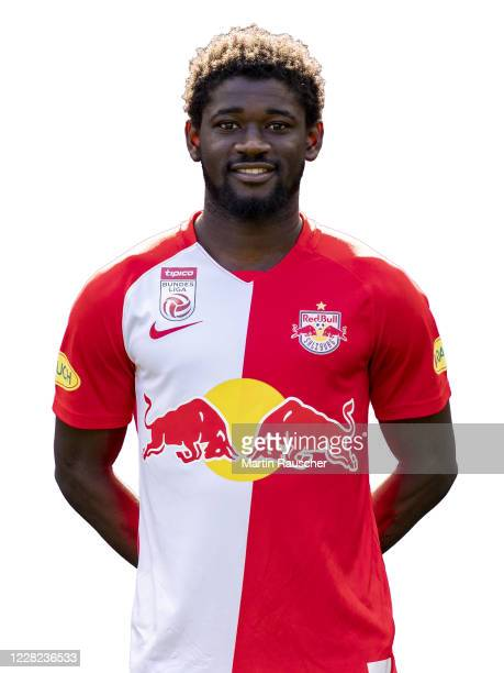Sekou Koita of FC Red Bull Salzburg poses during the team presentation at Red Bull Arena on August 26, 2020 in Wals , Austria.