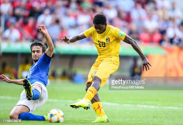 Sekou Koita of Mali scores a goal during the FIFA U-20 World Cup match between Italy and Mali on June 7, 2019 in Tychy, Poland.