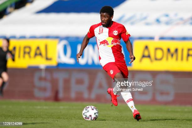 Sekou Koita of Salzburg during the second round match of the Uniqa OeFB Cup between Spusu SKN St. Poelten and FC Red Bull Salzburg at NV Arena on...