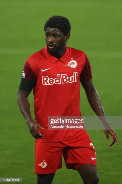 Sekou Koita of Salzburg looks on during the UEFA Champions League Group A stage match between RB Salzburg and FC Bayern Muenchen at Red Bull Arena on...