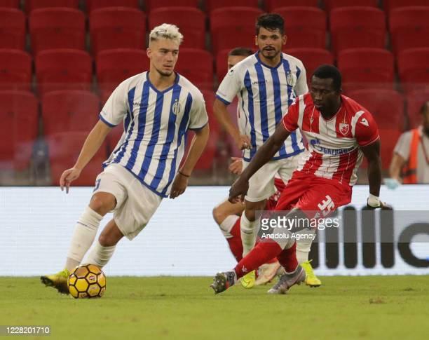 Sekou Sanogo of Crvena Zvezda in action during the UEFA Champions League Second qualifying round match between Tirana and Crvena Zvezda, in Tirana,...