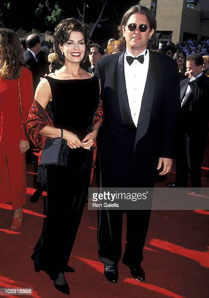 Sela Ward and Howard Sherman during 47th Annual Primetime Emmy Awards at Pasadena Civic Auditorium in Pasadena, California, United States.