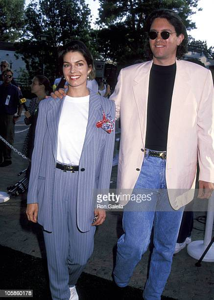 Sela Ward and Howard Sherman during An Evening At The Net party at UCLA's Tennis Center August 3 1992 at UCLA's Tennis Center in Los Angeles...