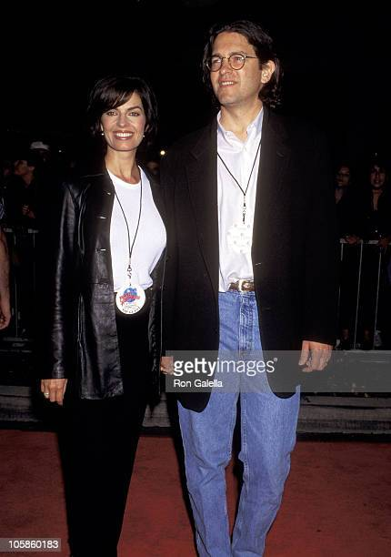 Sela Ward and Howard Sherman during Planet Hollywood Beverly Hills Grand Opening at Planet Hollywood in Beverly Hills California United States