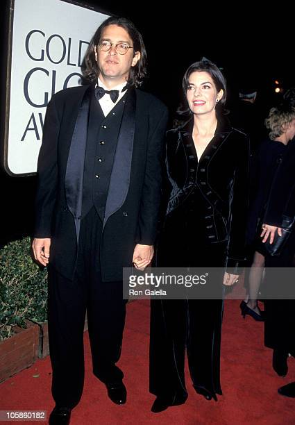 Sela Ward and Howard Sherman during The 52nd Annual Golden Globe Awards at Beverly Hilton Hotel in Beverly Hills California United States