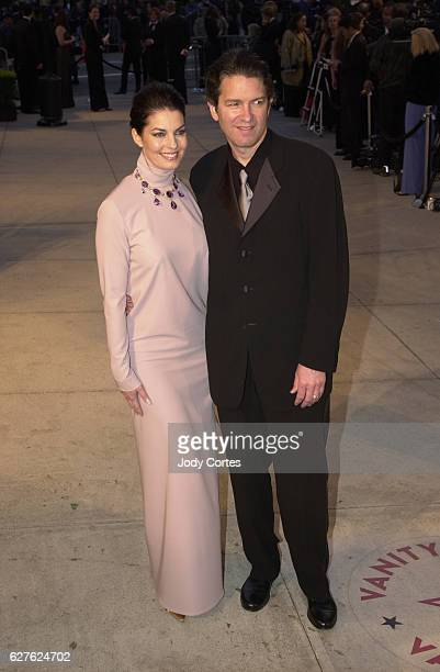 Sela Ward and husband Howard Sherman attend the Vanity Fair magazine party at Morton's.