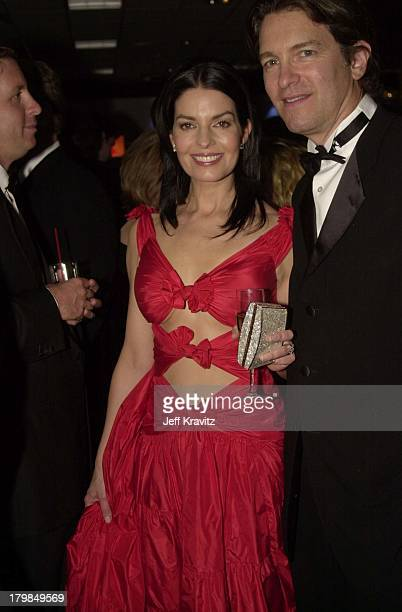 Sela Ward and husband Howard Sherman during The 58th Annual Golden Globes Miramax After Party in Beverly Hills California United States