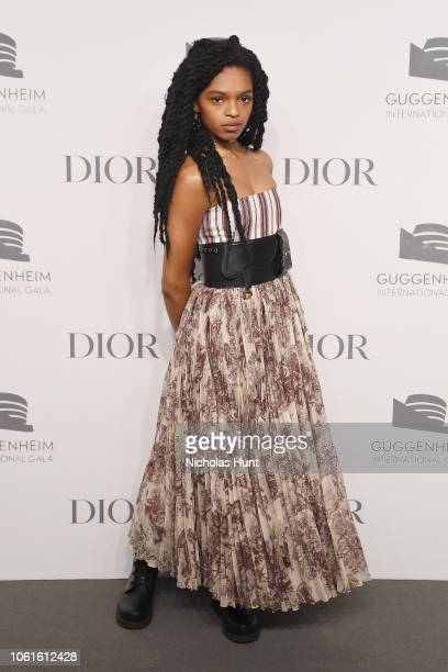 Selah Marley attends the 2018 Guggenheim International Gala PreParty made possible by Dior at Solomon R Guggenheim Museum on November 14 2018 in New...