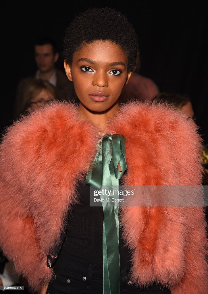 Selah Marley attends the Erdem catwalk show during London ...