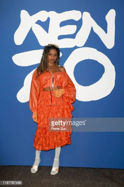 Selah Marley attends the Kenzo Spring Summer 2020 show as part of Paris Fashion Week on June 23 2019 in Paris France