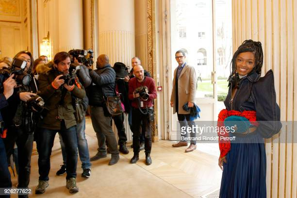Selah Marley attends the Nina Ricci show as part of the Paris Fashion Week Womenswear Fall/Winter 2018/2019 on March 2 2018 in Paris France