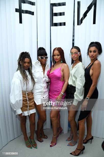 Selah Marley Renell Medrano Rihanna Nisaa Pouncey and Imaan Hammam attend the FENTY x Webster Popup Cocktail at The Webster on June 18 2019 in New...