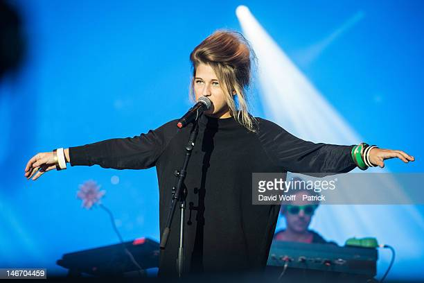 Selah Sue performs at Festivak Solidays at Hippodrome de Longchamp on June 22 2012 in Paris France