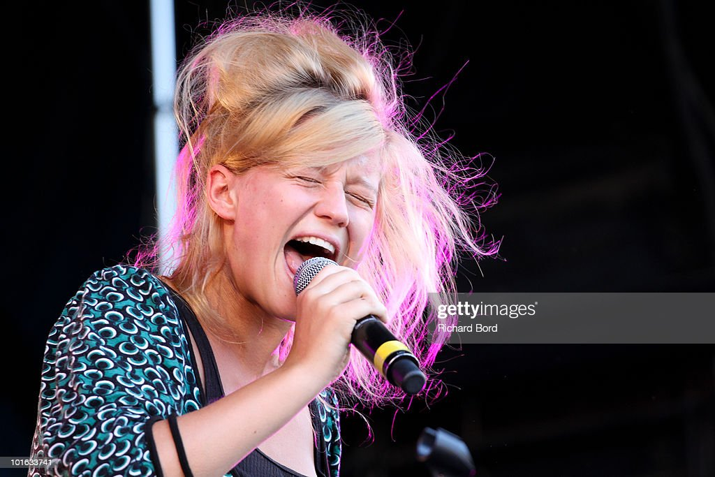 Selah Sue performs live during the 'Only The Brave' Block Party 2 at Place Stalingrad on June 4, 2010 in Paris, France.