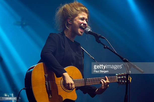 Selah Sue performs on stage during the third and final day of Pinkpop Festival at Megaland on June 13, 2011 in Landgraaf, Netherlands.