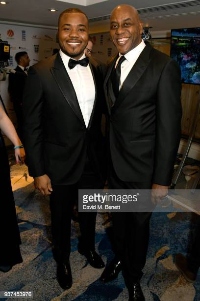 Selasi Gbormittah and Ainsley Harriott attend The British Ethnic Diversity Sports Awards at The Grosvenor House Hotel on March 24 2018 in London...