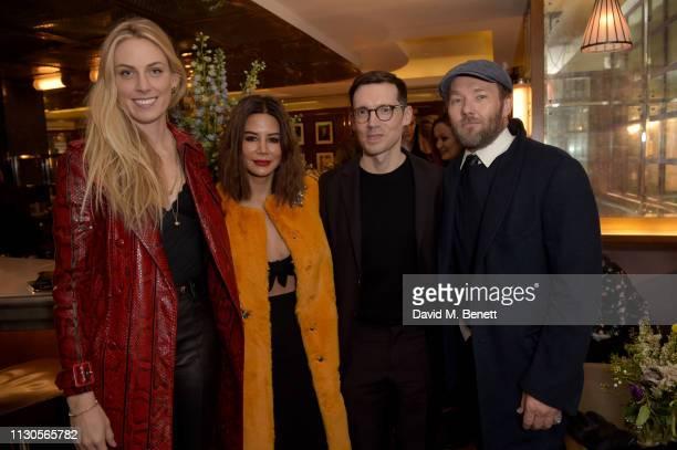 Selby Drummond Christine Centenera designer Erdem Moralioglu and Joel Edgerton attend the official Erdem London Fashion Week dinner at J Sheekey...
