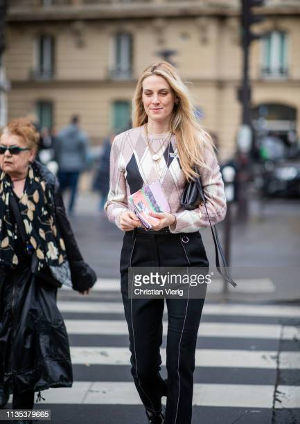 Selby Drummond is seen outside Miu Miu during Paris Fashion Week Womenswear Fall/Winter 2019/2020 on March 05 2019 in Paris France