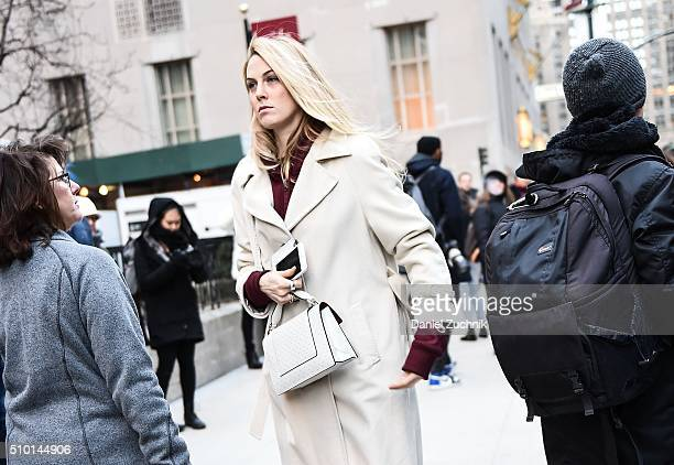 Selby Drummond is seen outside the Alexander Wang show during New York Fashion Week: Women's Fall/Winter 2016 on February 13, 2016 in New York City.