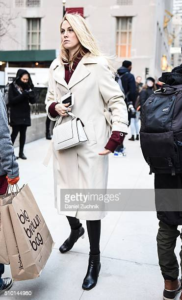 Selby Drummond is seen outside the Alexander Wang show during New York Fashion Week Women's Fall/Winter 2016 on February 13 2016 in New York City