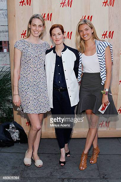 Selby Drummond Taylor Tomasi Hill and Allie Michler attend HM Summer Camp Party at Cafe de la Esquina on June 19 2014 in New York City