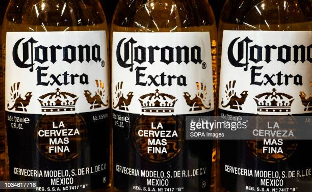 Select Corona Extra Bottles seen in store