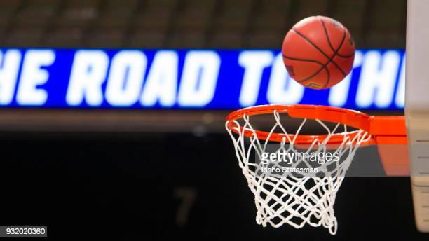 Select NCAA men's basketball teams from around the nation arrived at Taco Bell Arena in Boise Wednesday March 14 preparing for their first round NCAA...