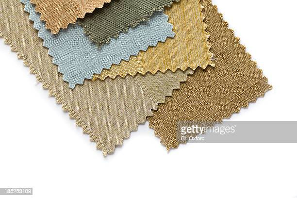 selecting fabrics - textile industry stock photos and pictures