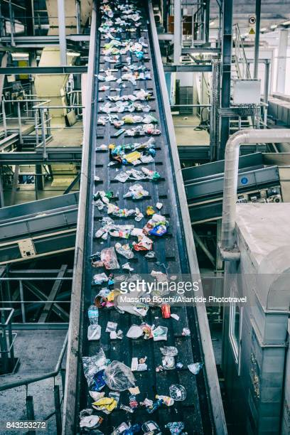 selection and recovery plant - image foto e immagini stock