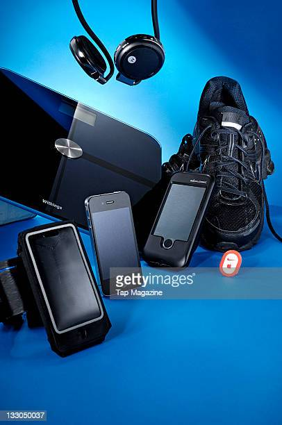 A selection of accesories from brands Motorola Nike Apple Dahone Belkin and Withings for use with health and fitness A Motorola Motorokr S305...