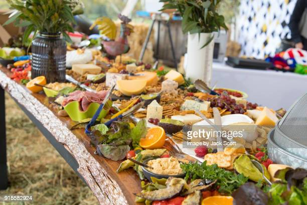 selection of appetizers - buffet stock pictures, royalty-free photos & images