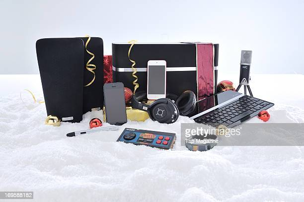 A selection of Apple iOS devices and accessories photographed during a studio shoot for Tap Magazine November 13 2012