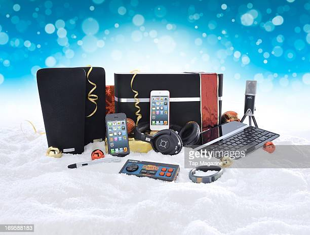 This image has been digitally manipulated A selection of Apple iOS devices and accessories photographed during a studio shoot for Tap Magazine...