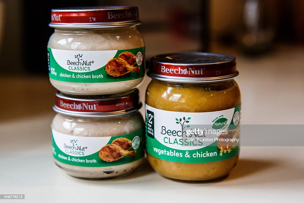 Selection Of Beechnut Classics Baby Food Jars Flavors Include