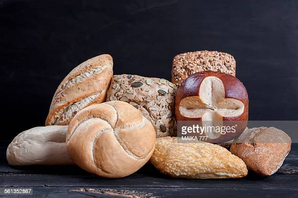 Selection of bread rolls mixed seed & whole grain