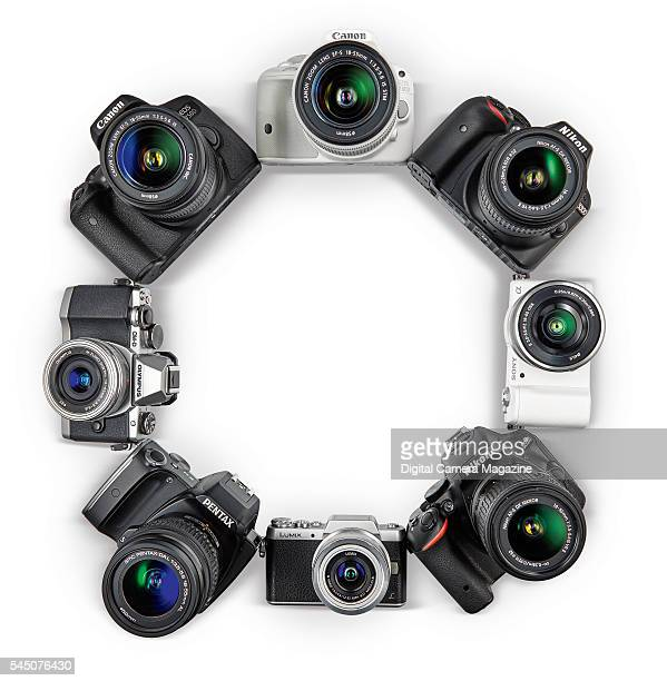 A selection of budget digital cameras including Canon Nikon Panasonic Sony Olympus and Pentax brands taken on November 9 2015