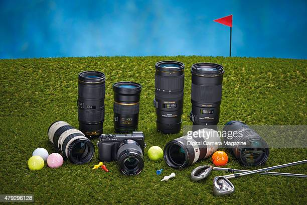 A selection of camera lenses photographed for a feature on midrange telephoto lenses taken on July 14 2014
