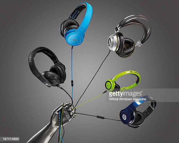 A selection of celebritybranded headphones including Skullcandy Mix Master Mike SMS Audio Street By 50 Cent House of Marley Destiny TTR AKG Quincy...