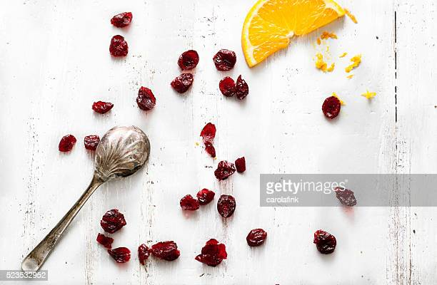 selection of cranberries - carolafink stock-fotos und bilder