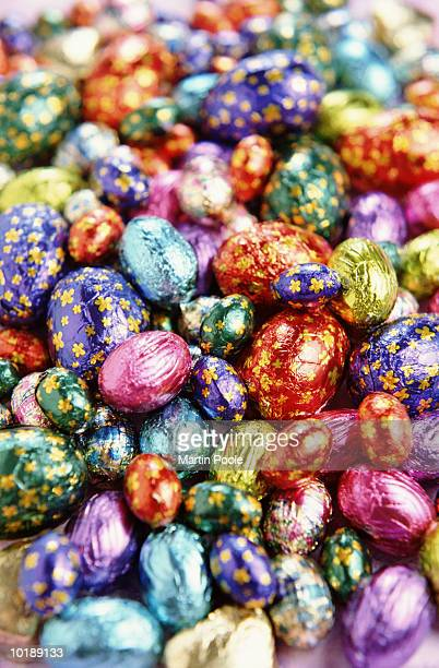 selection of easter eggs, full frame - easter egg stock pictures, royalty-free photos & images