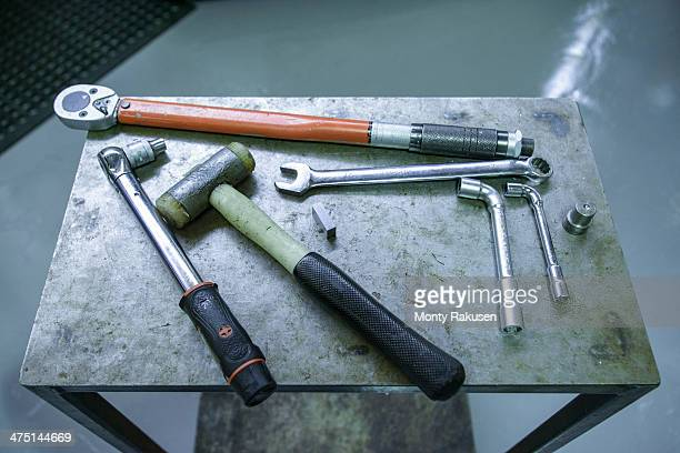 Selection of engineers tools in factory