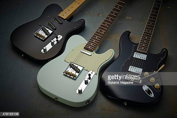 A selection of Fender Classic Player electric guitars including a Triple Tele Baja 60s Telecaster and a Strat HH taken on October 13 2014