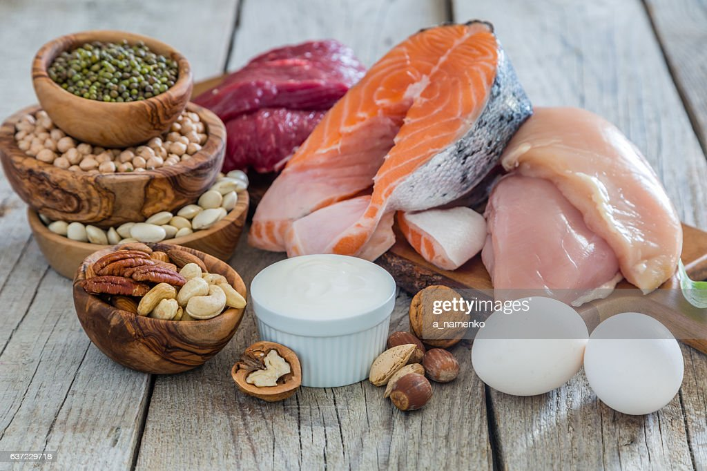 Selection of food for weight loss : Stock Photo