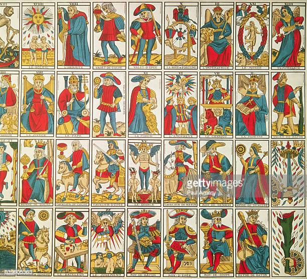 A selection of French tarot cards