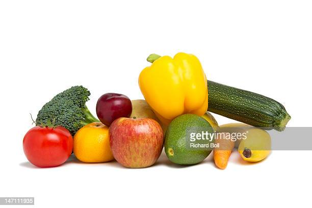 A selection of fresh fruit and vegetables