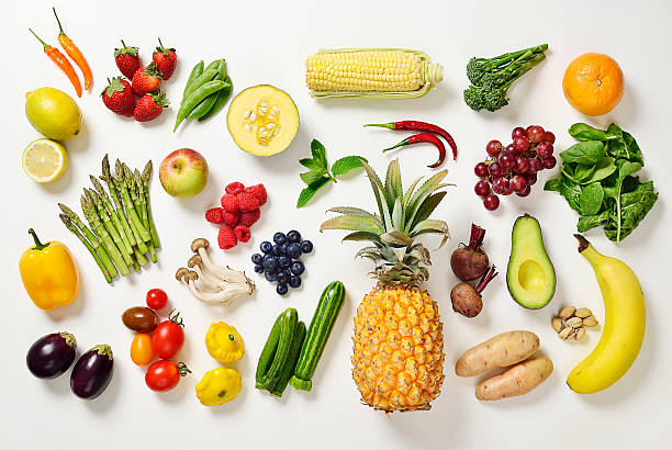 Selection Of Fruit And Vegetables Wall Art
